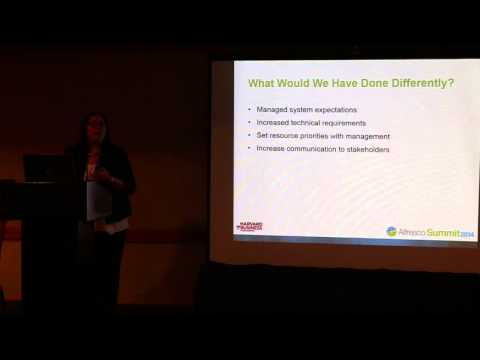 Alfresco Summit 2014: How Harvard Business Publishing Uses Alfresco as a Powerful PIM Solution