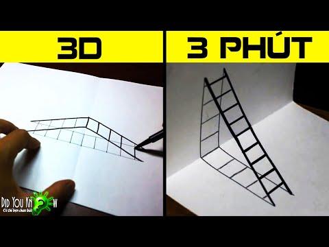 Làm thế nào để vẽ một cái thang 3D - Quá dễ