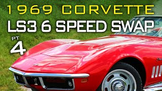 Chevrolet C3 Corvette LS Swap 6 Speed Manual Transmission Swap at V8 Speed and Resto Shop Part 4