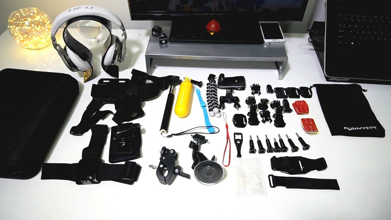 GoPro HERO 5 Black 4K Ultra HD Camera 57-in-1 Accessories Kits - YouTube 621afff4259c