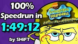 SpongeBob SquarePants: Battle for Bikini Bottom 100% Speedrun in 1:49:12 (WR on 12/5/2017)