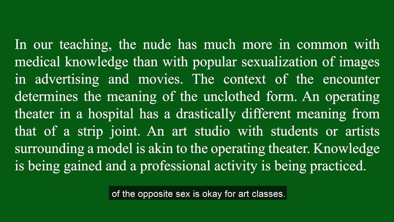 Celeb Nude Models For Art Classes Scenes
