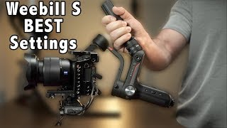 BEST Settings For SMOOTH and STABLE Footage   Zhiyun Weebill S Gimbal