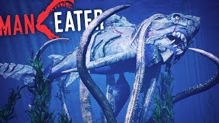 Maneater - Cthulhu, Dinosaurs & KAIJU In The DEEP! Locations & MEG Easter Eggs! - Maneater Gameplay