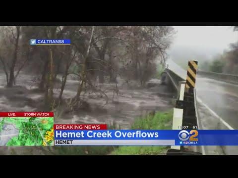 State Road 74 Closed After Hemet Creek Overflows