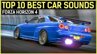 TOP 10 BEST CAR SOUNDS | Forza Horizon 4 | Turbos, Crackles & Pops