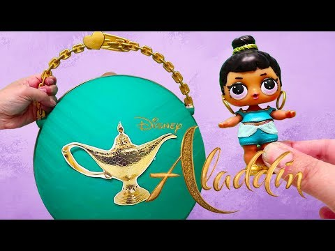 Big LOL Surprise Aladdin Live Action Toys and Dolls DIY | SWTAD Kids Pretend Play