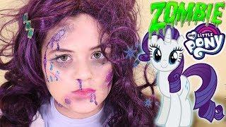 Zombie My Little Pony Rarity Makeup Tutorial! Equestria Doll Cosplay Halloween | KITTIESMAMA