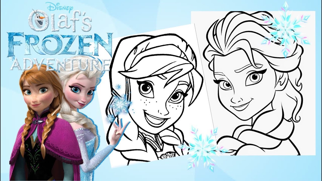 Coloring Pages Princess Anna and