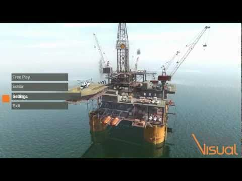 Real Visual - Oil Rig Training Simulation Demo‬