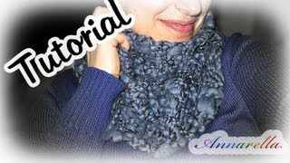 Repeat youtube video Tutorial sciarpa ai ferri semplice semplicissima!   DIY knitted scarf