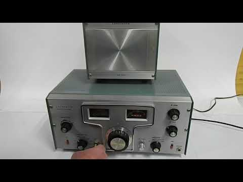 Lafayette Ham Band Receiver model HA-350.with matching Speaker 99-2571