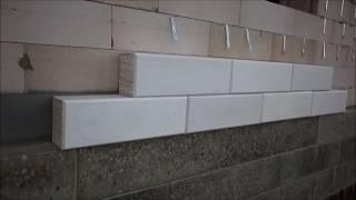 Облицовка стен дома блоками газобетона(Один из вариантов в выборе -