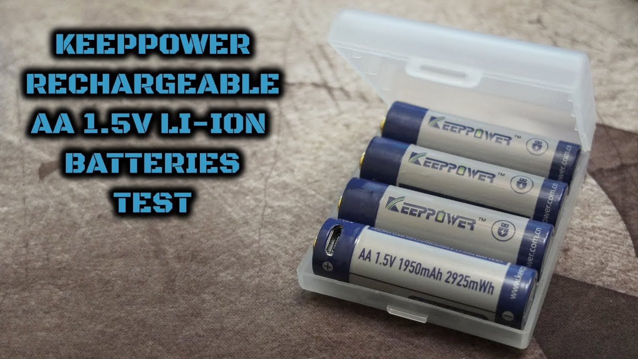 Keeppower Rechargeable Aa 1 5v Li Ion Batteries Test Youtube