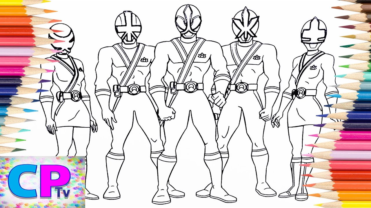 Power Rangers Samurai Coloring Pages, How to Color Power Rangers ...