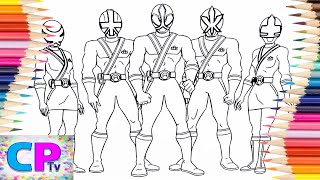 Power Rangers Samurai Coloring Pages, How to Color Power Rangers Coloring Pages Kids Fun