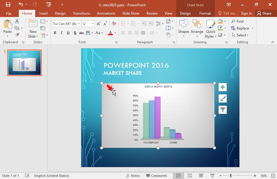 Change the chart type to a 3D clustered Bar chart - YouTube - types of excel charts