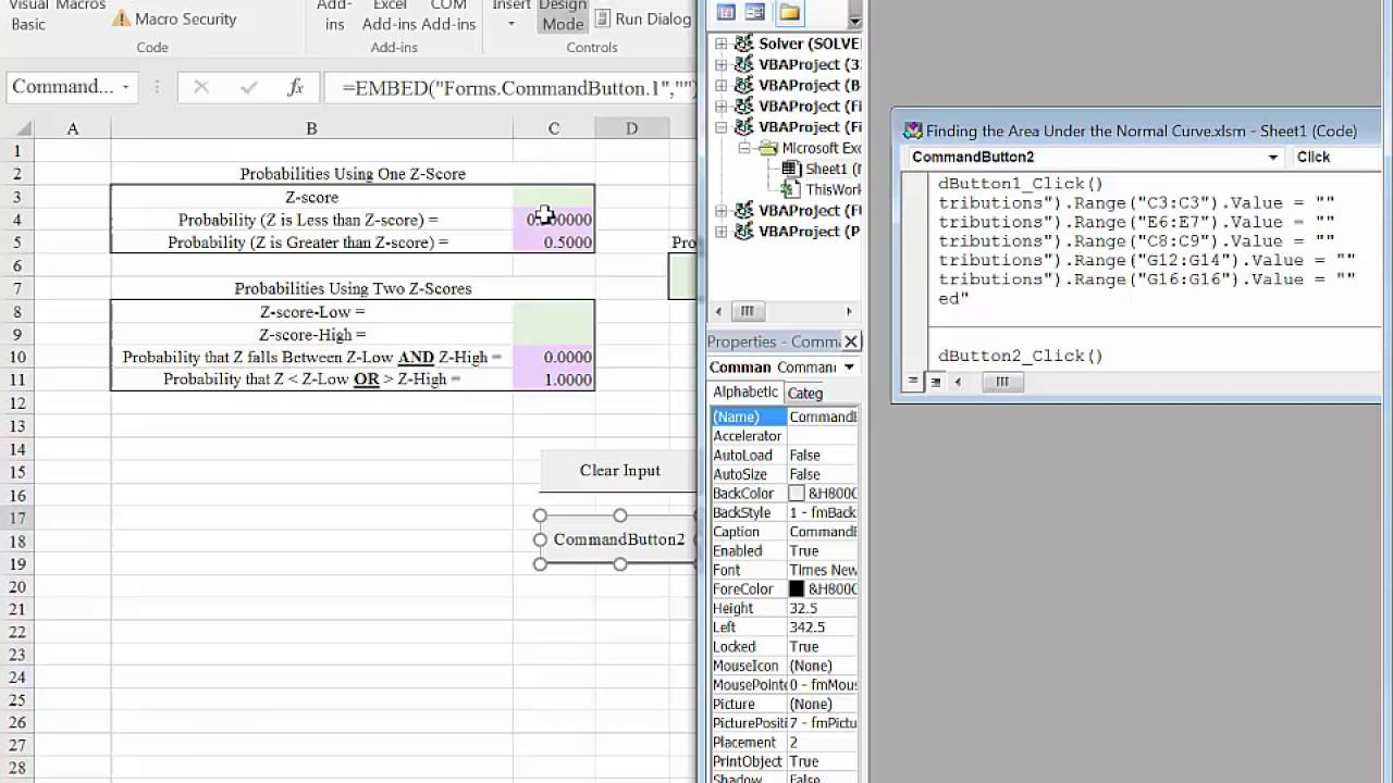 Excel 2016 Adding a Clear Form Button - YouTube