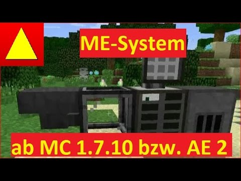 Me Sytem mit Autocrafting Grundlagen klein aber fein von Applied Energistics 2 Tutorial