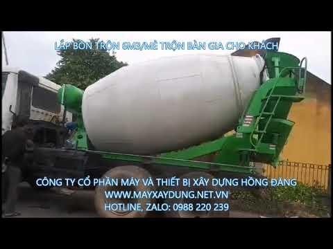 Bồn trộn bê tông 2m3, 3m3, 4m3, 5m3, 6m3 hàng nhập khẩu 0988220239 - YouTube