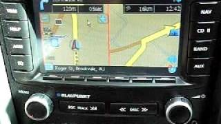 Touch screen controlled navigation for Pontiac G8