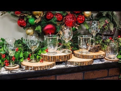 picture about Home and Family Christmas Workbook called Do-it-yourself Etched Xmas Gles - Property Spouse and children - YouTube