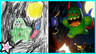 Artists Recreate Kids Monster Doodles In Their Unique Styles
