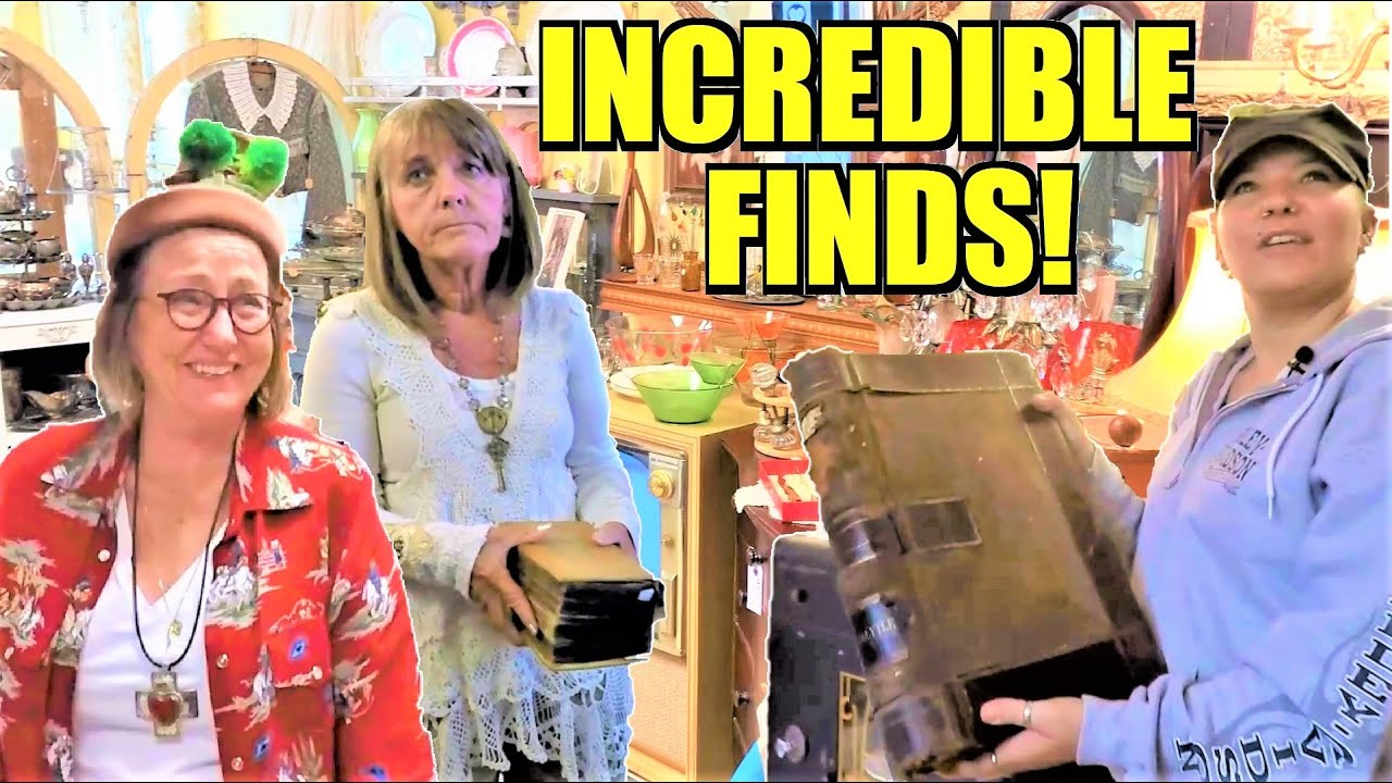 Ep296: SOME AMAZING ANTIQUE FINDS AT GRACE & THYME / LA PETITE BROCANTE! - The GoPro Antiquing Vlog!
