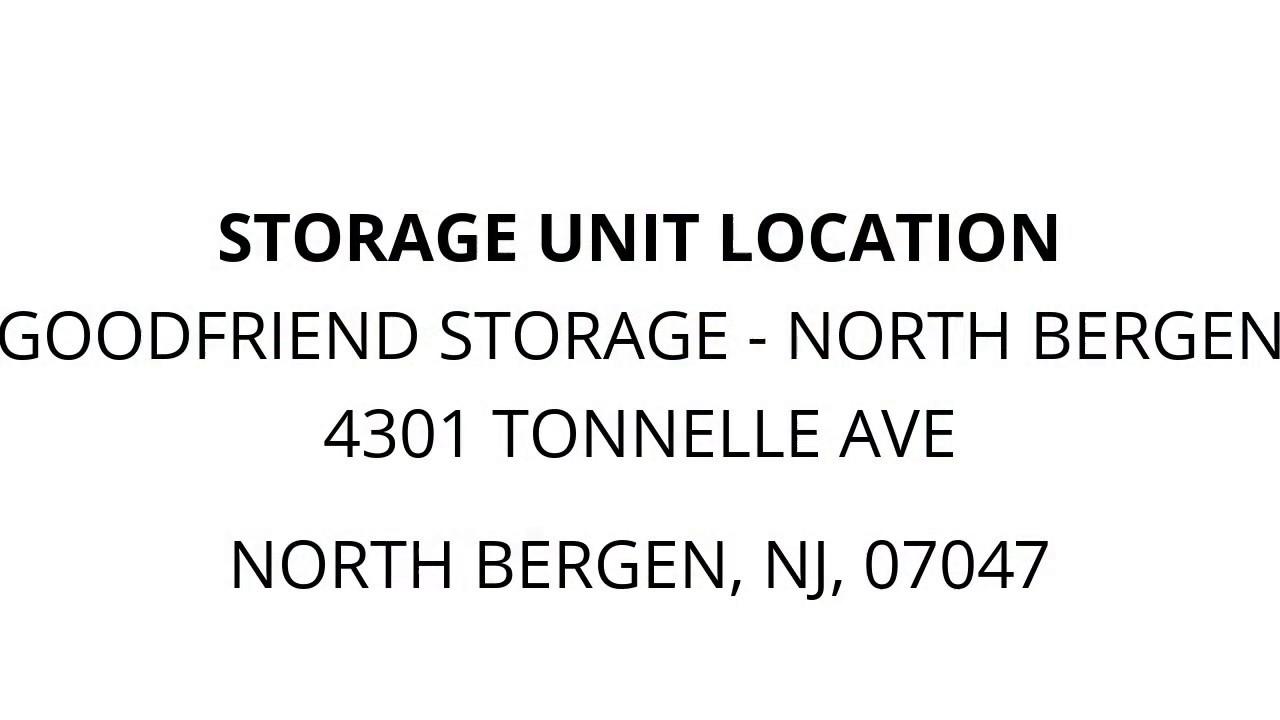 GoodFriend Storage   North Bergen   Unit 2544