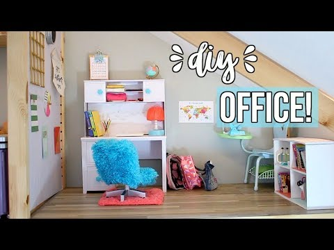 DIY DOLL OFFICE! | How To Make An American Girl Doll Office | Ep. 5