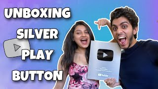 UNBOXING OUR SILVER PLAY BUTTON ON HITTING 200K SUBSCRIBERS | YASH & NILAM