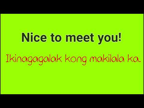 Useful Everyday Questions And Phrases (English Tagalog Translation)