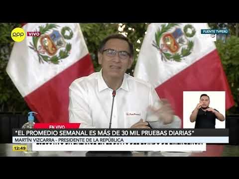 Vizcarra: El Perú Superó El Millón De Personas A Las Que Se Les Ha Realizado La Prueba De COVID-19