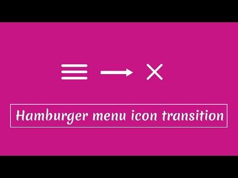 Hamburger Menu Icon Transition using css | Transforming hamburger menu