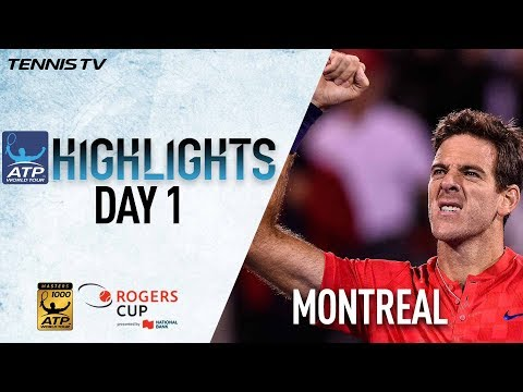 Highlights: Kyrgios del Potro Advance On Monday In Montreal 2017