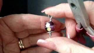 JEWELRY MAKING, How to, Wire Wrapped Beads.