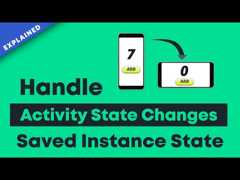 Handle Activity State Changes using onSaveInstanceState | Android Tutorial 2020