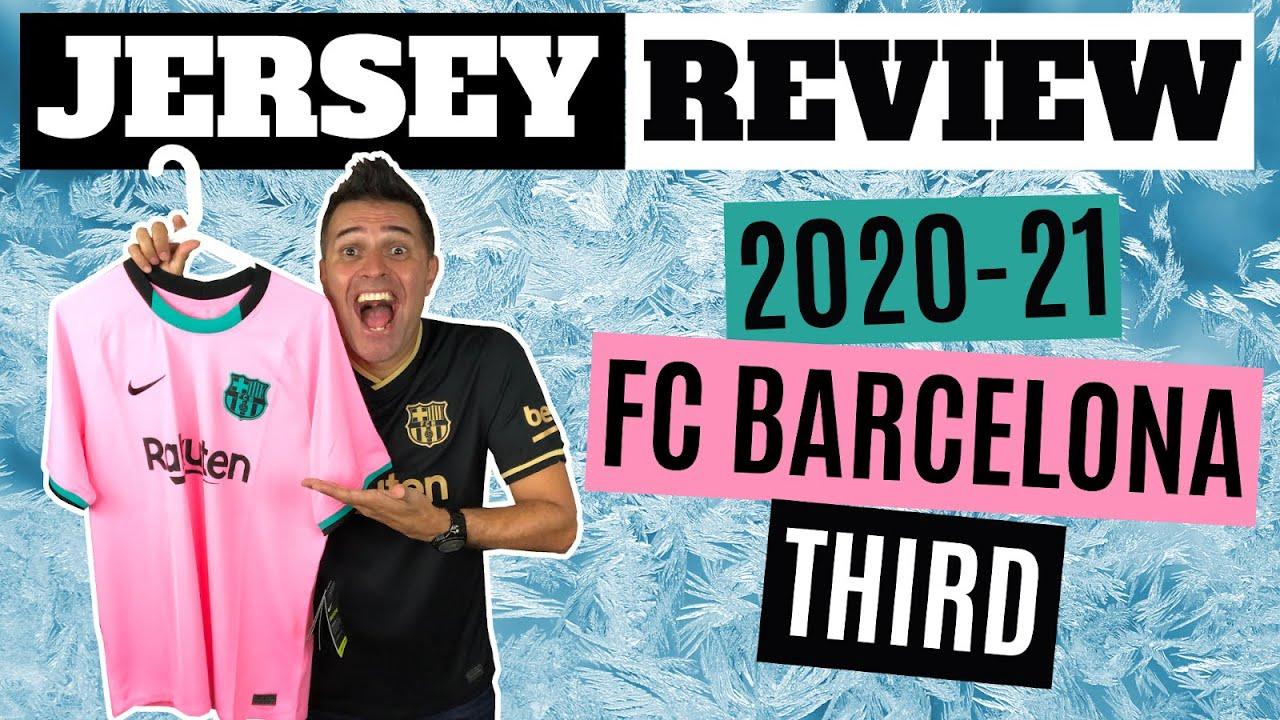 First Pink Barcelona Jersey Air Max Theme Nike 2020 21 Fc Barcelona Third Jersey Review Youtube