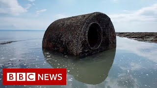 Shipwreck graveyard captured in tribute art project - BBC News