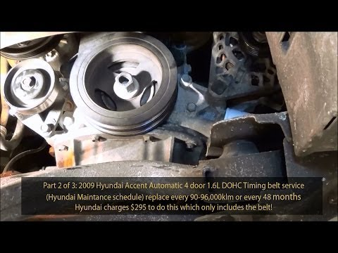 2006-2011 Hyundai Accent Timing Belt replacement Step by