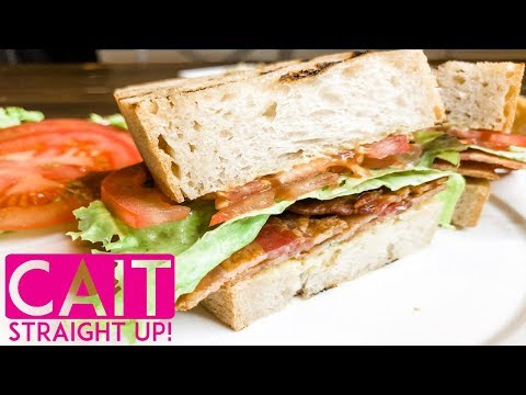 The Best BLT Sandwich With Pesto Sauce | Cait Straight Up