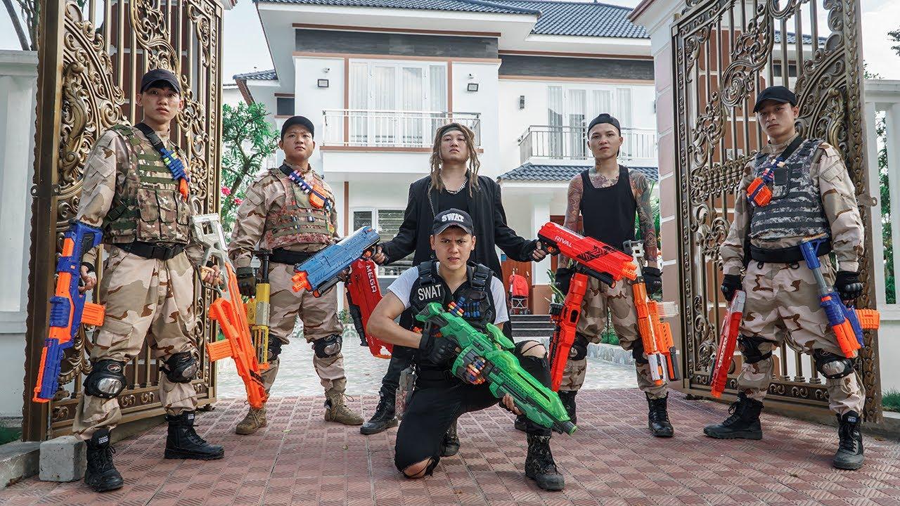 LTT Game Nerf War : TWO Warriors SEAL X Fight BOSS Crime Rocket Crazy Night CrossFire