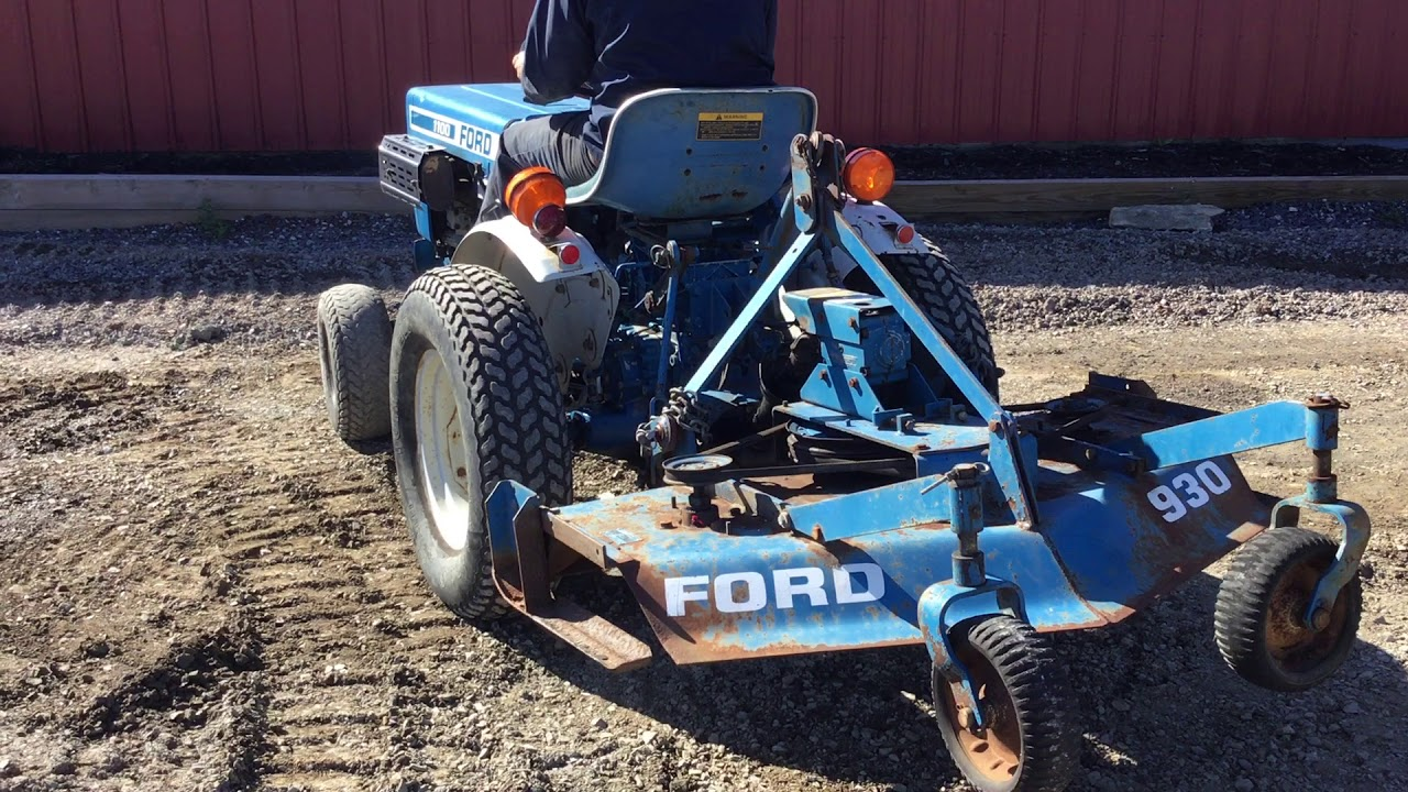 Ford 1100 Compact Tractor w/ Finish Mower!