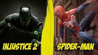 nouveaux jeux injustice 2 et spider man