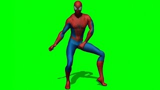 Spiderman dancing green screen royalty free