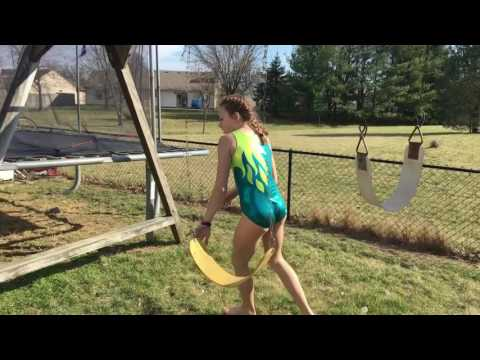 Gymnastics obstacle course with gymnasts Chloe and Zoey!