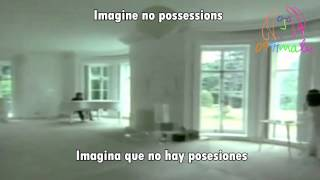 Imagine-John Lennon(subtitulado en ingles y español)[with lyrics]