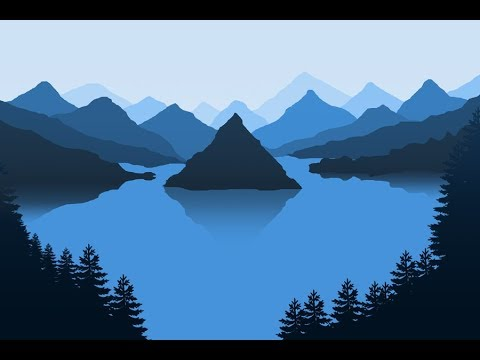 How Easy To Create Silhouette Landscape Mountain | Photoshop