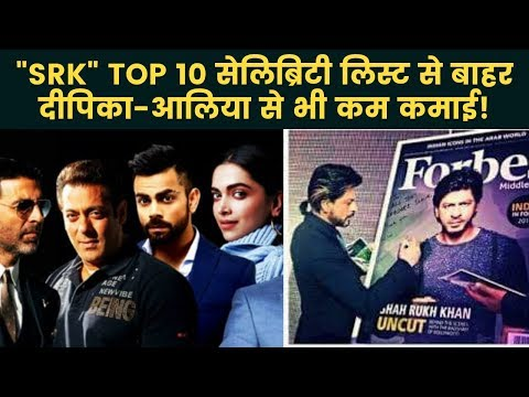 Forbes Top 100 Richest Celebrities List: Shahrukh Khan out from Top 10