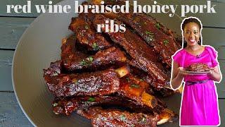 RED WINE BRAISED HONEY PORK RIBS  KALUHI&#39S KITCHEN